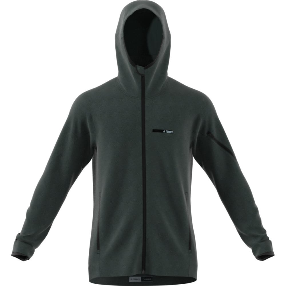 ADIDAS Men's Terrex Climaheat Ultimate Fleece Jacket - GREEN NIGHT