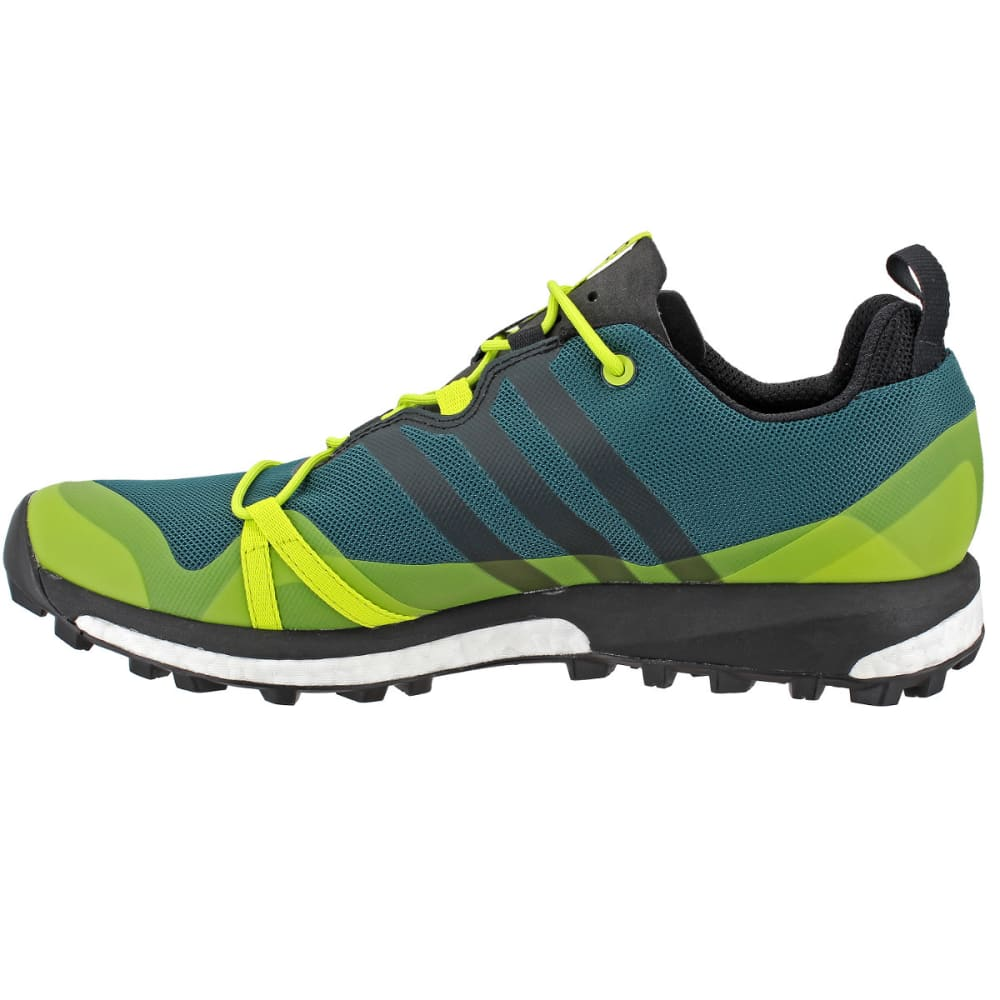 ADIDAS Men's Terrex Agravic Trail Running Shoes, Blue/ Green - GREEN/BLACK/YELLOW