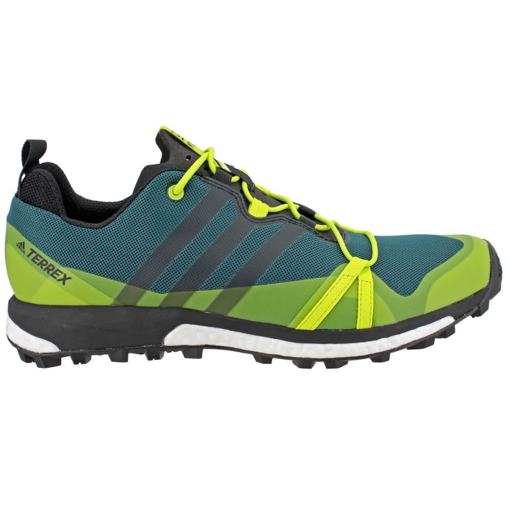 ADIDAS Men's Terrex Agravic Trail Running Shoes, Blue/ Green - GREEN/BLACK/YELLOW