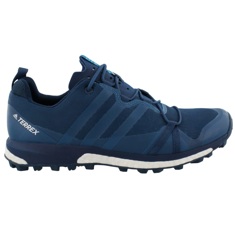 ADIDAS Men's Terrex Agravic Trail Running Shoes, Blue - BLUE/PETROL/WHITE