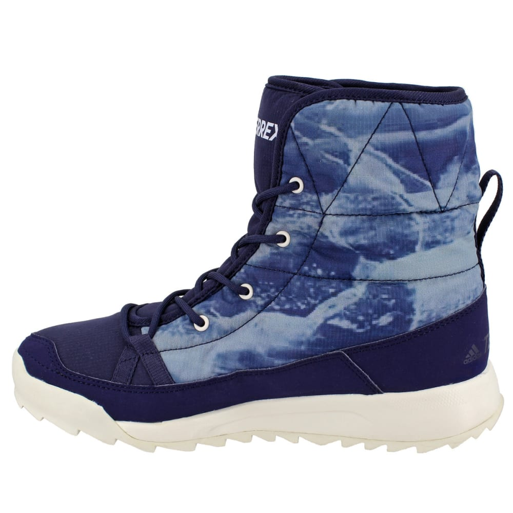 ADIDAS Women's Terrex Choleah Padded CP Cold Weather Boots, Blue - INK/WHITE/SCARLET