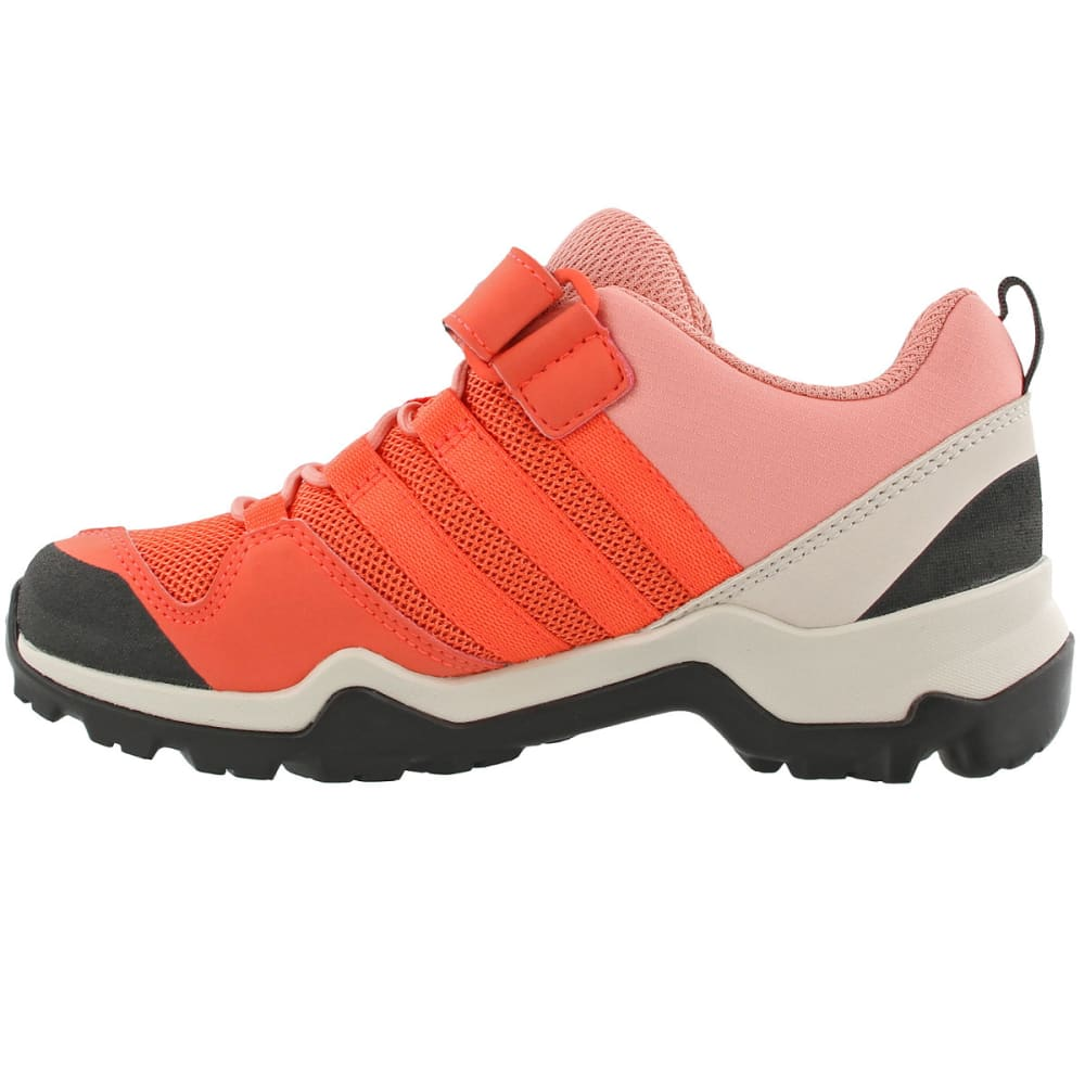 ADIDAS Kid's Terrex AX2R CF Hiking Shoes, Pink - CORAL/CORAL/ROSE