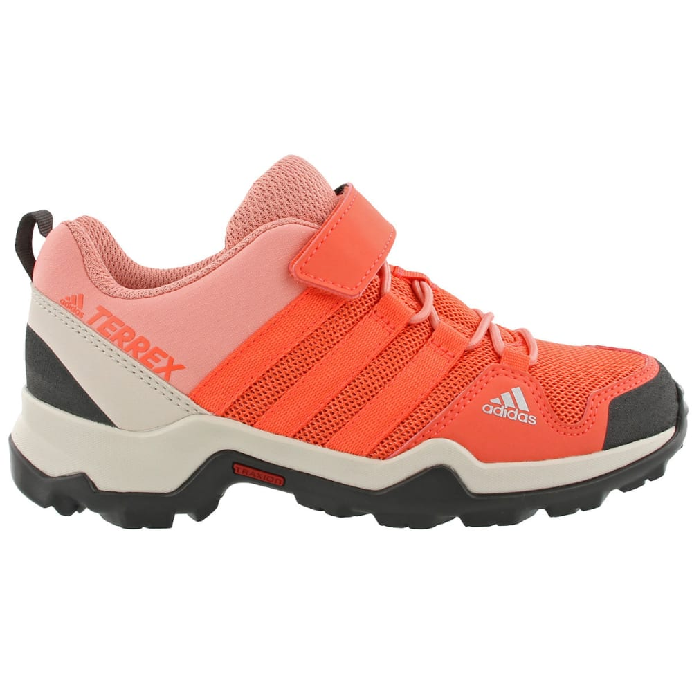 ADIDAS Kid's Terrex AX2R CF Hiking Shoes, Pink - CORAL/CORAL/ROSE