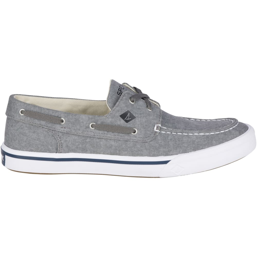 SPERRY Men's Bahama II Boat Washed Boat Shoes - GREY