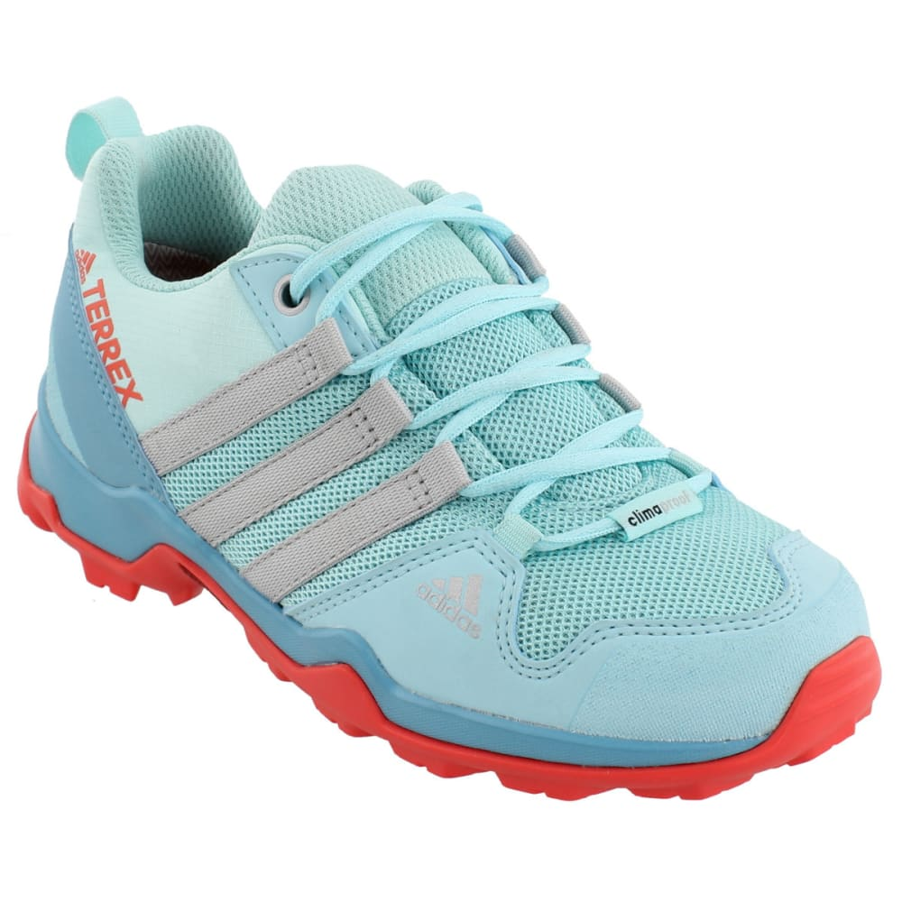 ADIDAS Kid's Terrex AX2R CP Hiking Shoes,Blue - BLUE/GREY/CORAL