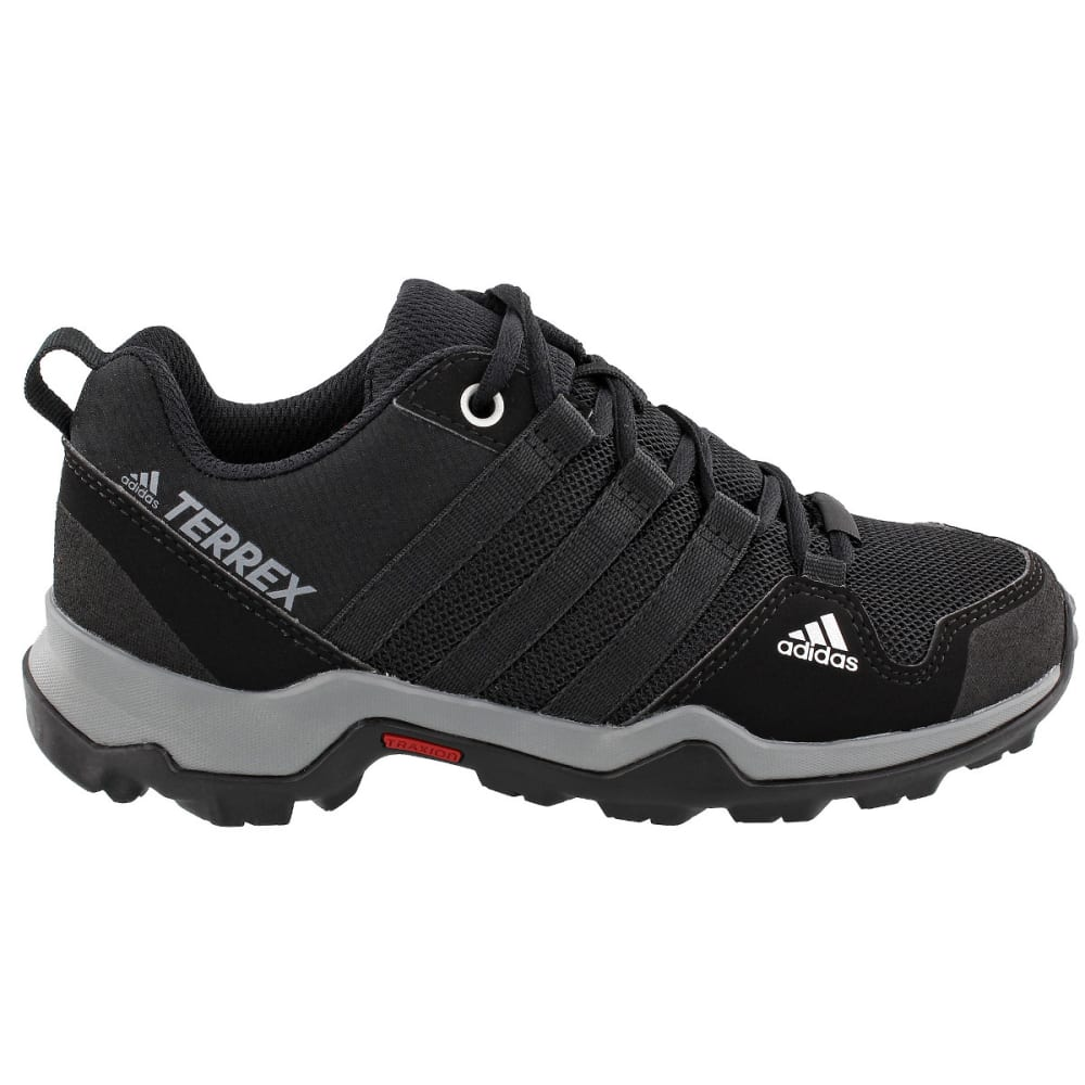 ADIDAS Kid's Terrex AX2R Hiking Shoes, Black - BLACK/BLACK/GREY
