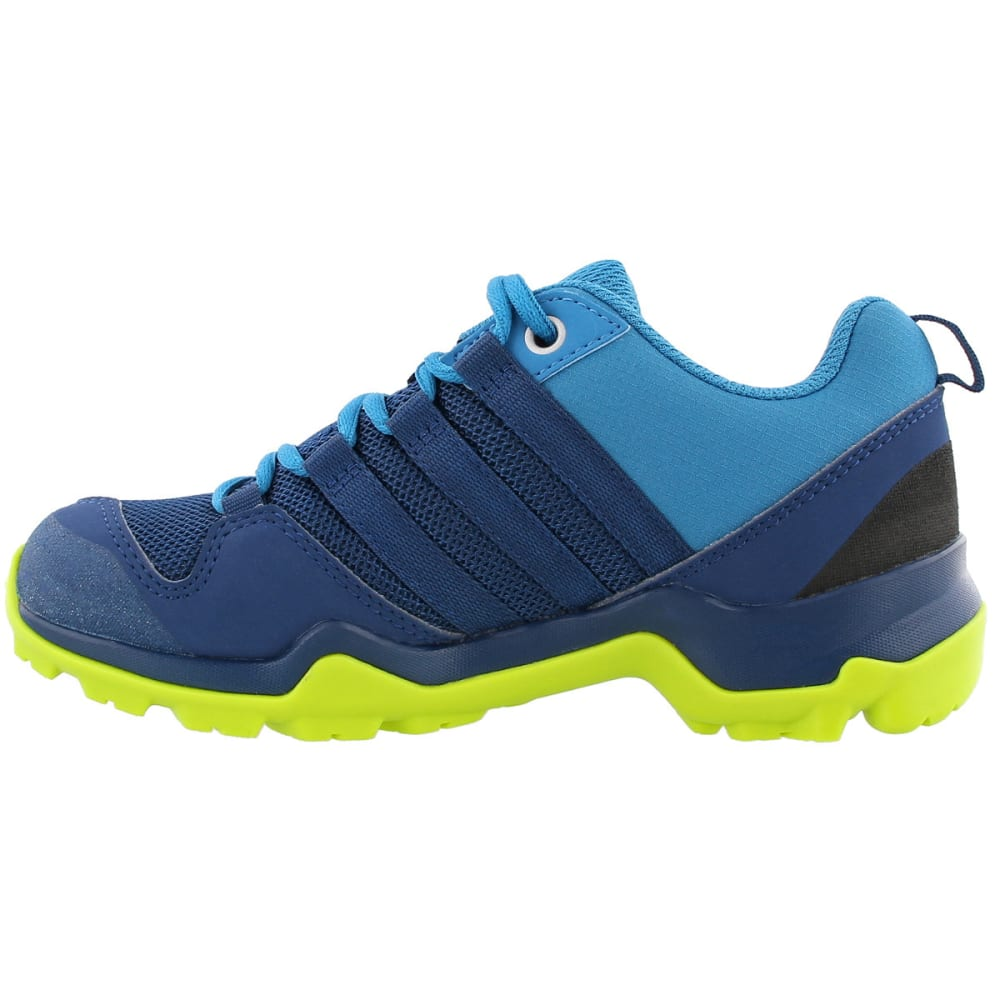 ADIDAS Kid's Terrex AX2R Hiking Shoes, Blue - BLUE/BLUE/YELLOW