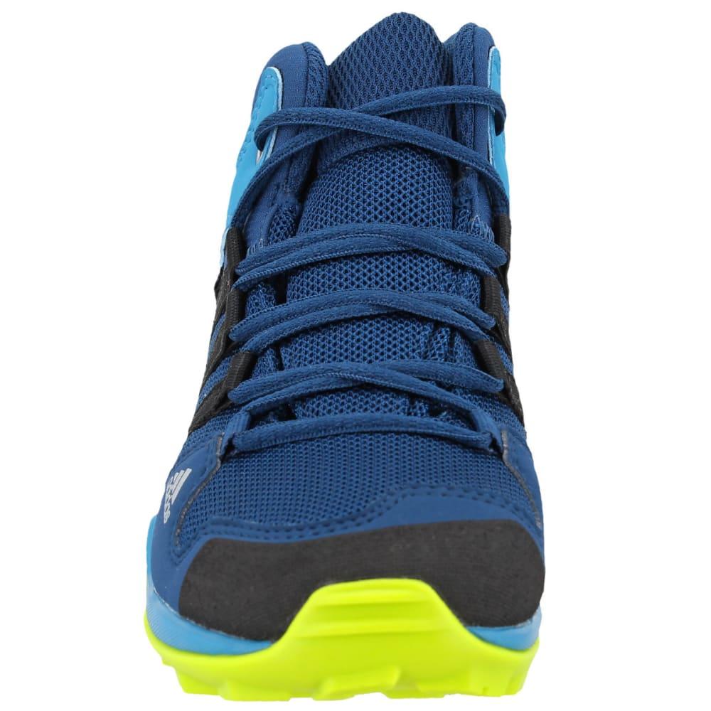 ADIDAS Kids' AX2R Mid Hiking Shoes, Blue Night/Black/Semi Solar Yellow - BLUE/BLACK/YELLOW