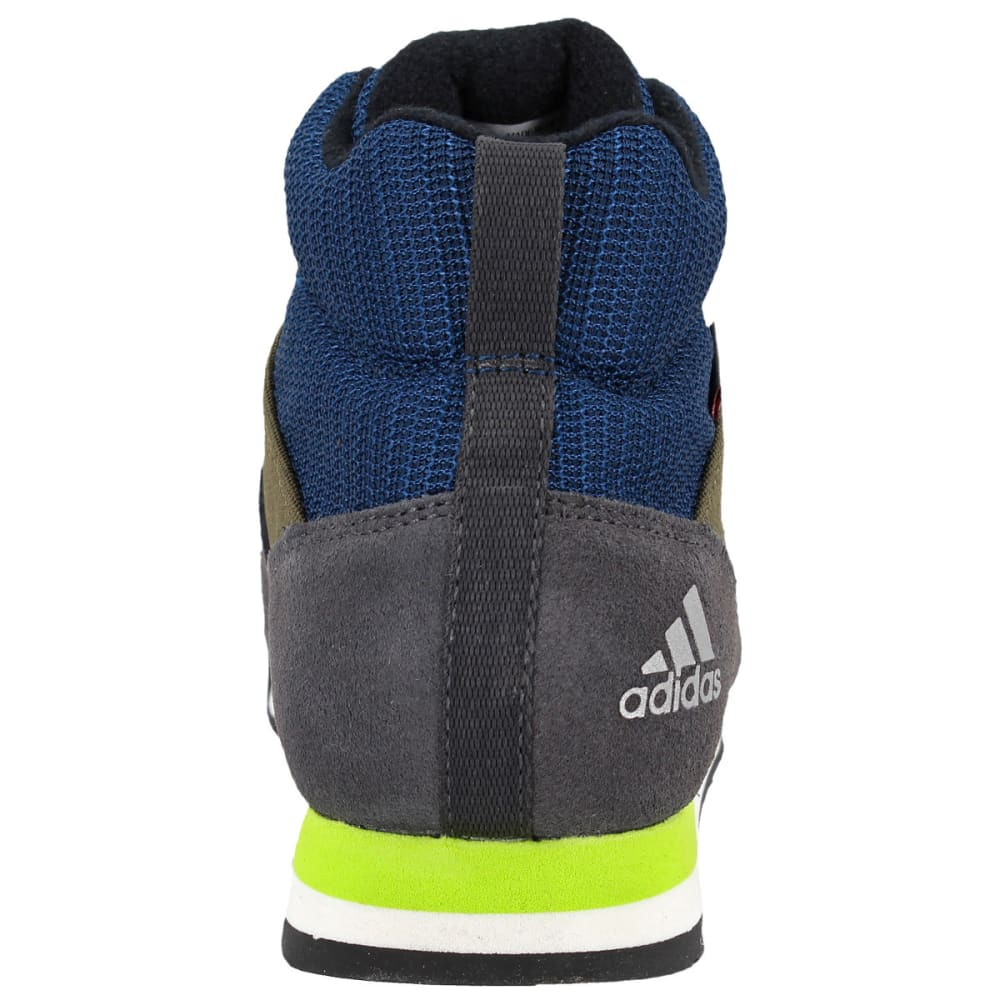 ADIDAS Kids' Snowpitch Hiking Shoes, Trace Cargo/Utility Black/Semi Solar Yellow - CARGO/BLACK/YELLOW
