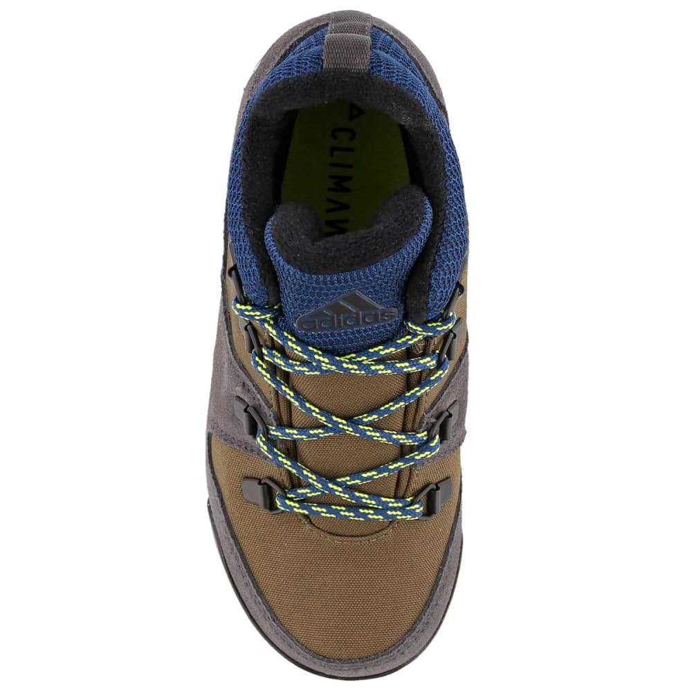 ADIDAS Kids' Snowpitch Hiking Shoes, Trace Cargo/Utility Black/Semi Solar Yellow - CARGO/BLACK/YELLOW