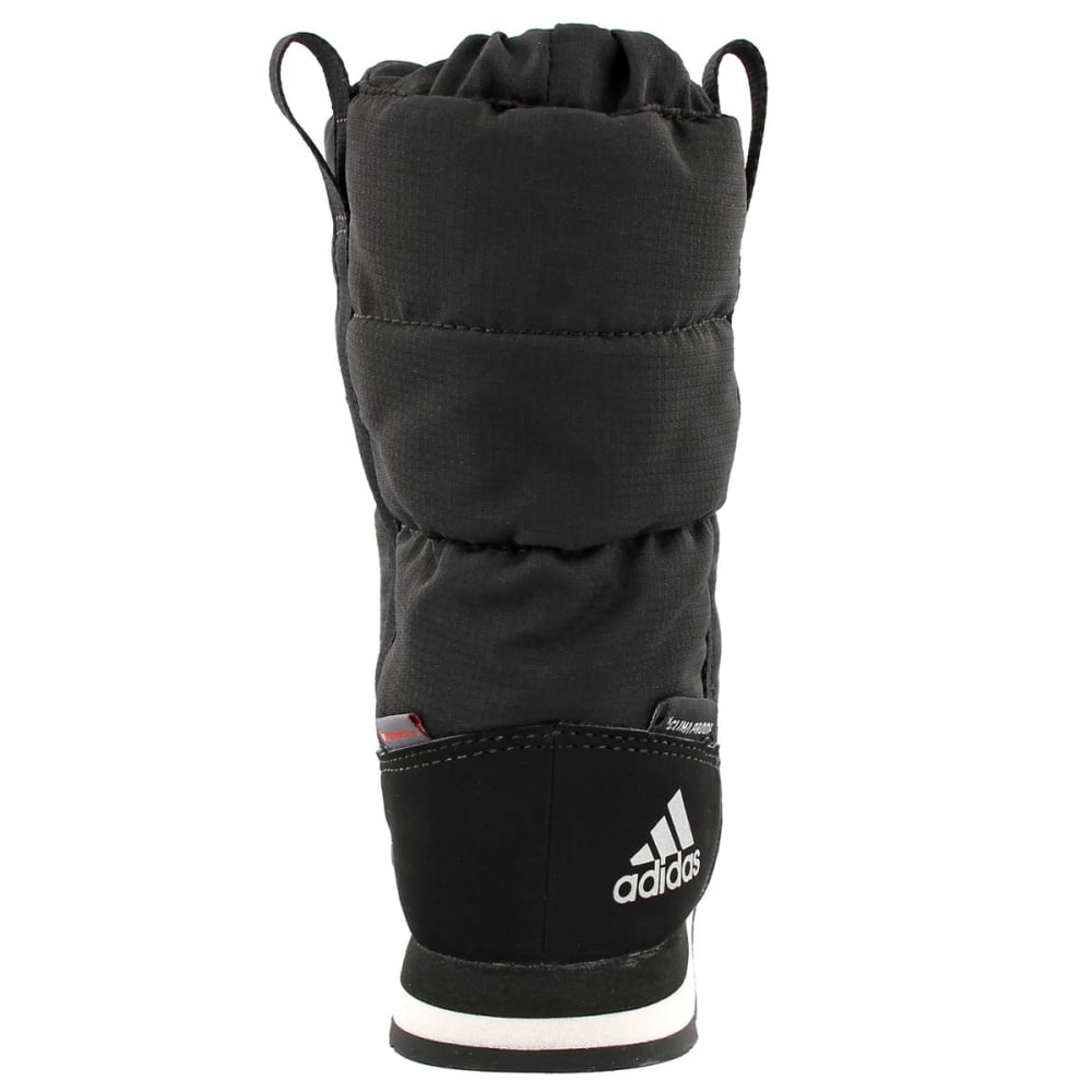ADIDAS Kids' Snowpitch Slip-On Outdoor Shoes, Black/Black/Chalk White - BLACK/BLACK/WHITE