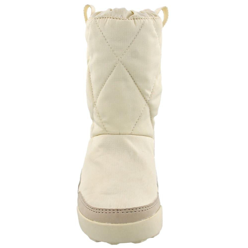ADIDAS Kids' Snowpitch Slip-On Outdoor Shoes, Chalk White/Clear Brown/Clear Aqua - WHITE/BROWN/AQUA