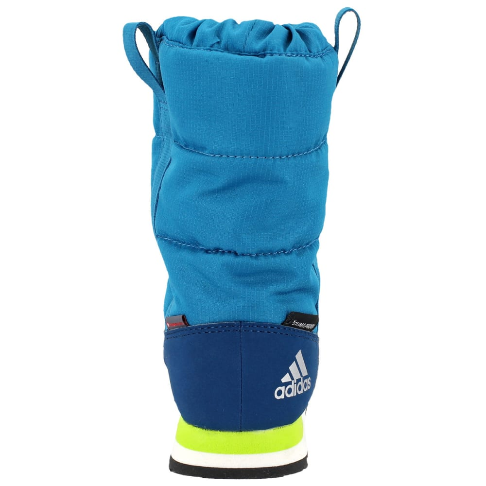ADIDAS Kids' Snowpitch Slip-On Outdoor Shoes, Mystery Petrol/Blue Night/Semi Solar Yellow - PETROL/BLUE/YELLOW