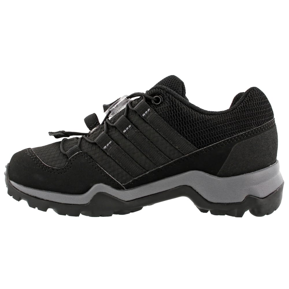 ADIDAS Kids' Terrex GTX Hiking Shoes, Black/Black/Vista Grey - BLACK/BLACK/GREY