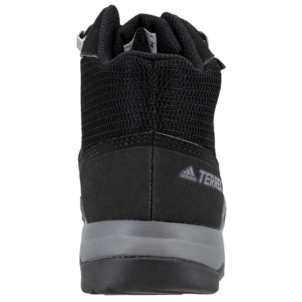 ADIDAS Kids' Terrex Mid GTX Hiking Shoes, Black/Black/Vista Grey - BLACK/BLACK/GREY