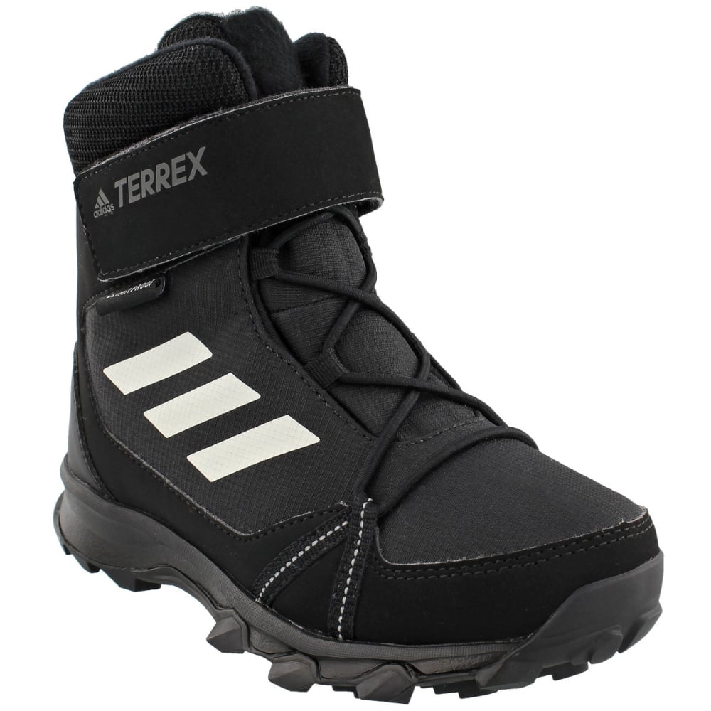 ADIDAS Kids' Terrex Snow Boots, Black/Chalk White/Black - BLACK/WHITE/BLACK