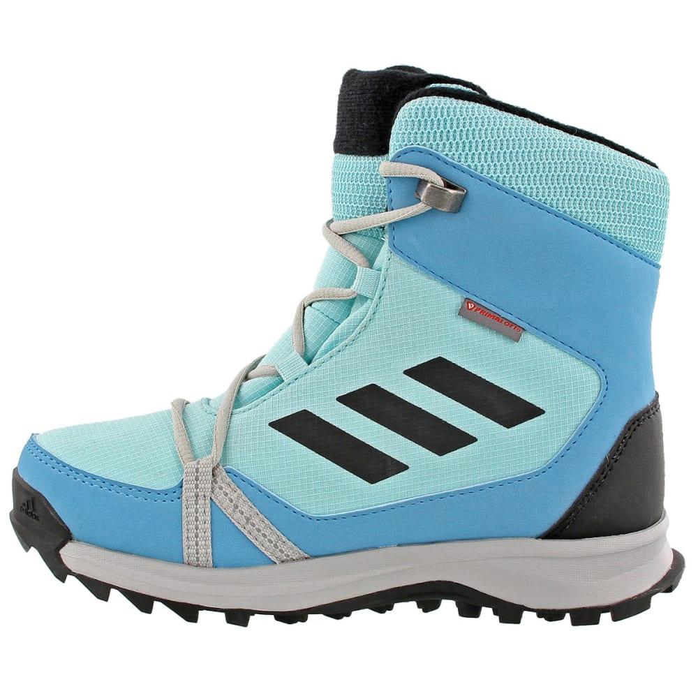 ADIDAS Kids' Terrex Snow Boots, Clear Aqua/Black/Vapor Blue - AQUA/BLACK/BLUE