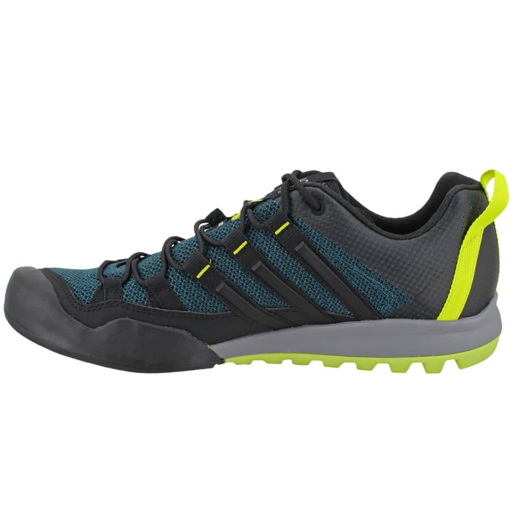 ADIDAS Men' Terrex Solo Hiking Shoes, Mystery Green/Black/Semi Solar Yellow - GREEN/BLACK/YELLOW
