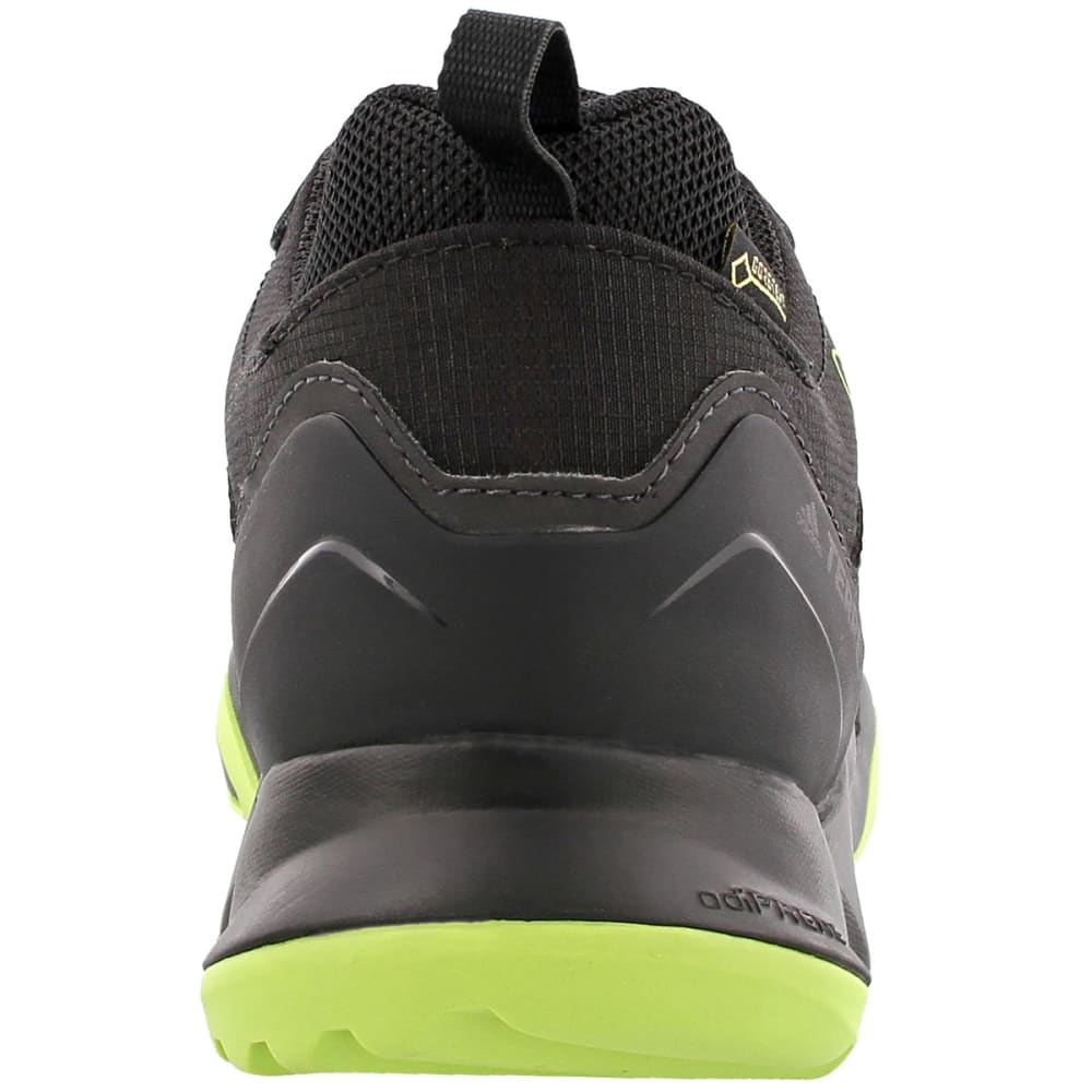 ADIDAS Men's Terrex Swift R GTX Hiking Shoes, Black/Black/Semi Solar Yellow - BLACK/BLACK/YELLOW
