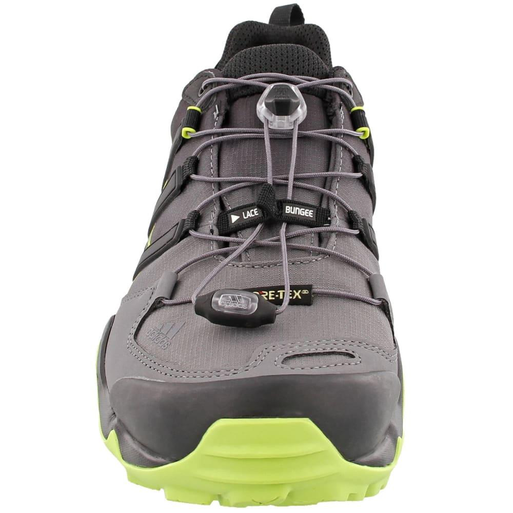 ADIDAS Men's Terrex Swift R GTX Hiking Shoes, Black/Black/Semi Solar Yellow - BLACK/BLACK/YELLOW
