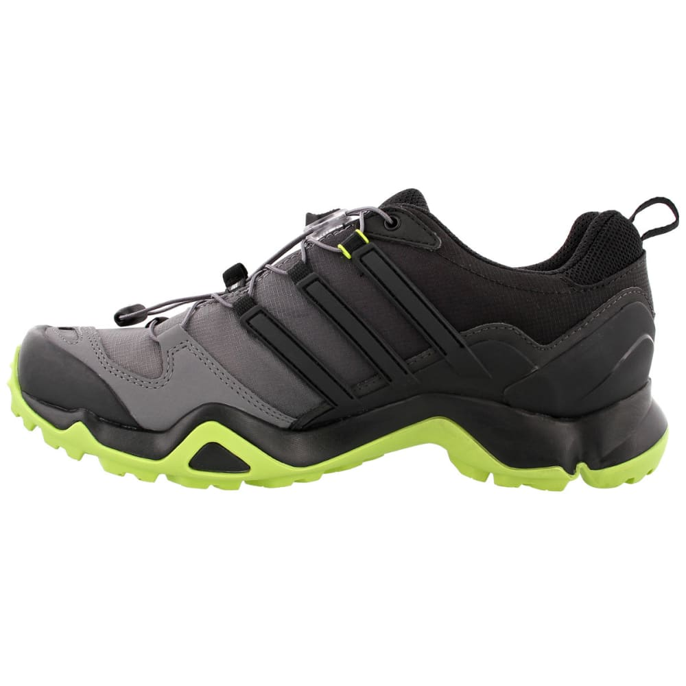 ADIDAS Men's Terrex Swift R GTX Hiking Shoes, Black/Black/Semi Solar Yellow