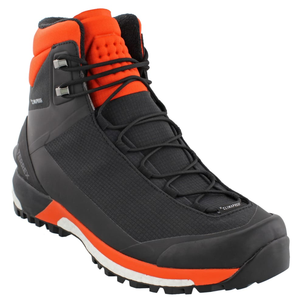 ADIDAS Men's Terrex Tracefinder Climaheat Hiking Boots, Black/Energy/Grey Four - BLACK/ENERGY/GREY