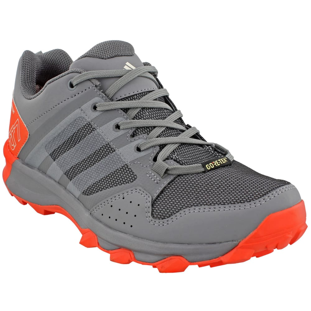 ADIDAS Women's Kanadia 7 Trail Running GTX Shoes, Grey Two/Chalk White/Easy Coral - GREY/WHITE/CORAL