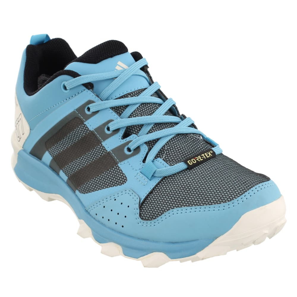 ADIDAS Women's Kanadia 7 Trail Running GTX Shoes, Vapor Blue/Black/Clear Aqua - BLUE/BLACK/AQUA