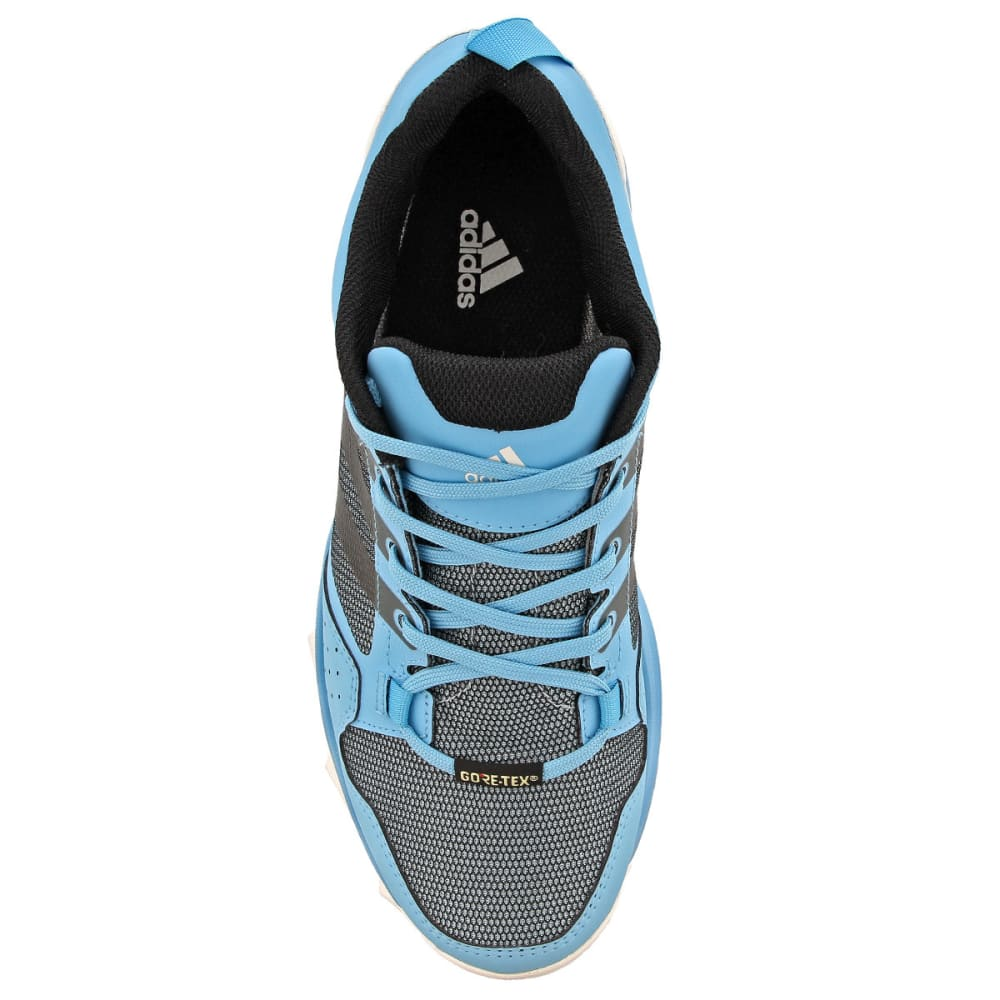 ADIDAS Women's Kanadia 7 Trail Running GTX Shoes, Vapor Blue/Black/Clear Aqua - BLUE/BLACK/AQUA