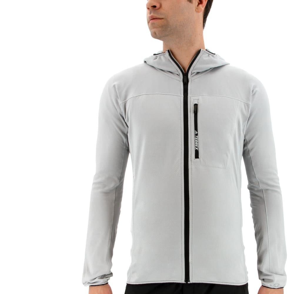 ADIDAS Men's Terrex Tracerocker Hooded Fleece Jacket - CLEAR ONIX