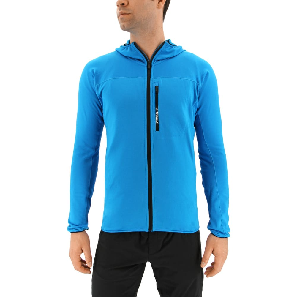 ADIDAS Men's Terrex Tracerocker Hooded Fleece Jacket - BOLD AQUA