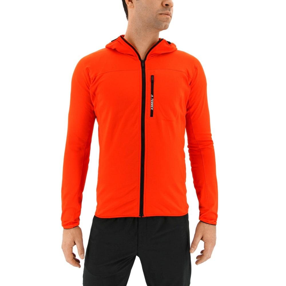 ADIDAS Men's Terrex Tracerocker Hooded Fleece Jacket - ENERGY