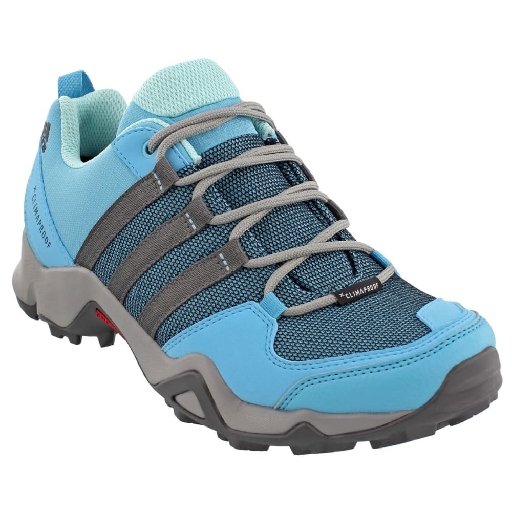 ADIDAS Women's AX2 ClimaProof Hiking Shoes, CH Solid Grey/Vapor Blue/Grey Five - GREY/BLUE/GREY