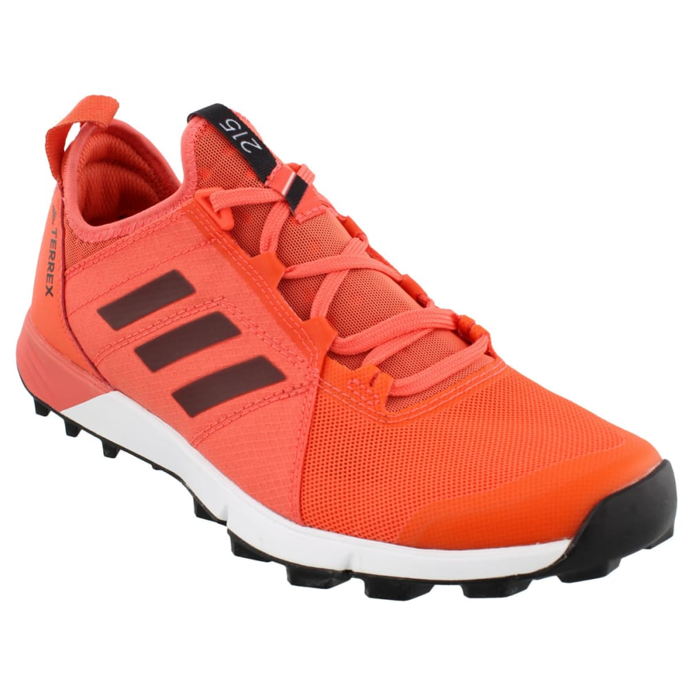 ADIDAS Women's Terrex Agravic Speed Trail Running Shoes, Easy Coral/Black/White - CORAL/BLACK/WHITE
