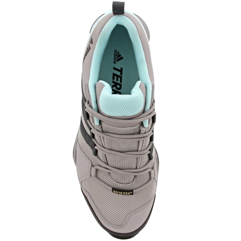ADIDAS Women's Terrex AX2R GTX Hiking Shoes, Ch Solid Grey/DGH Solid Grey/Clear Aqua - GREY/GREY/AQUA