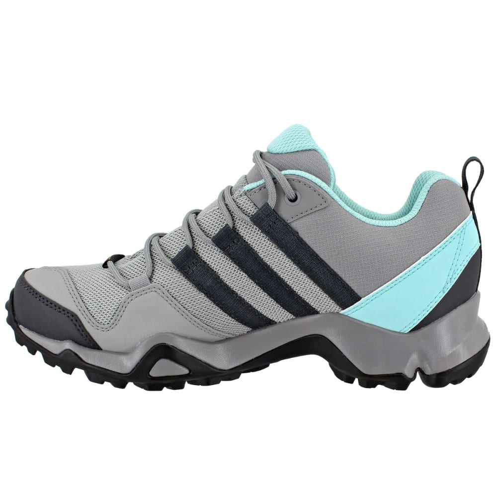 ADIDAS Women's Terrex AX2R GTX Hiking Shoes, Ch Solid Grey/DGH Solid Grey/Clear Aqua - GREY/GREY/AQUA