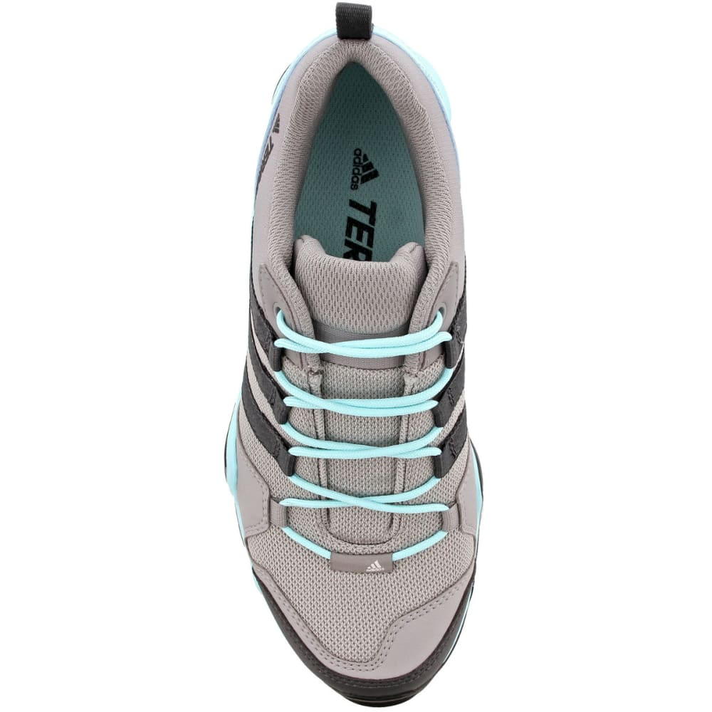 ADIDAS Women's Terrex AX2R Hiking Shoes, CH Solid Grey/DGH Solid Grey/Clear Aqua - GREY/GREY/AQUA