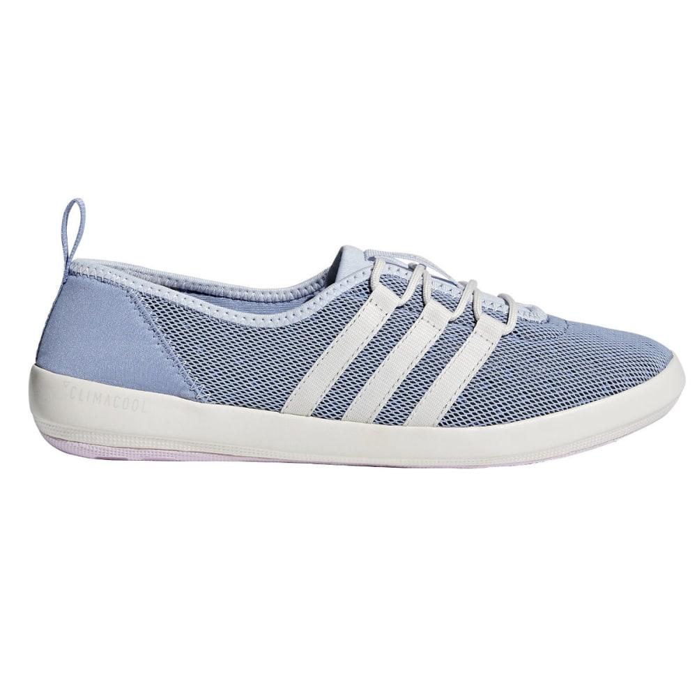 ADIDAS Women's Terrex Climacool Boat Sleek Shoes, Black/Chalk White/Matte Silver - BLUE/WHITE/PINK