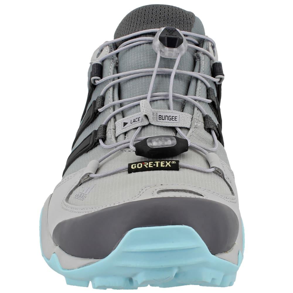 ADIDAS Women's Terrex Swift R GTX Hiking Shoes, Grey Two/Utility Black/Clear Aqua - GREY/BLACK/AQUA