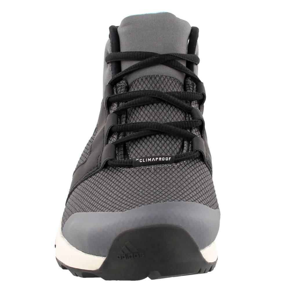 ADIDAS Women's Terrex Voyager CW CP Mid-Cut Hiking Shoes, Grey Four/Black/Chalk White - GREY/BLACK/WHITE