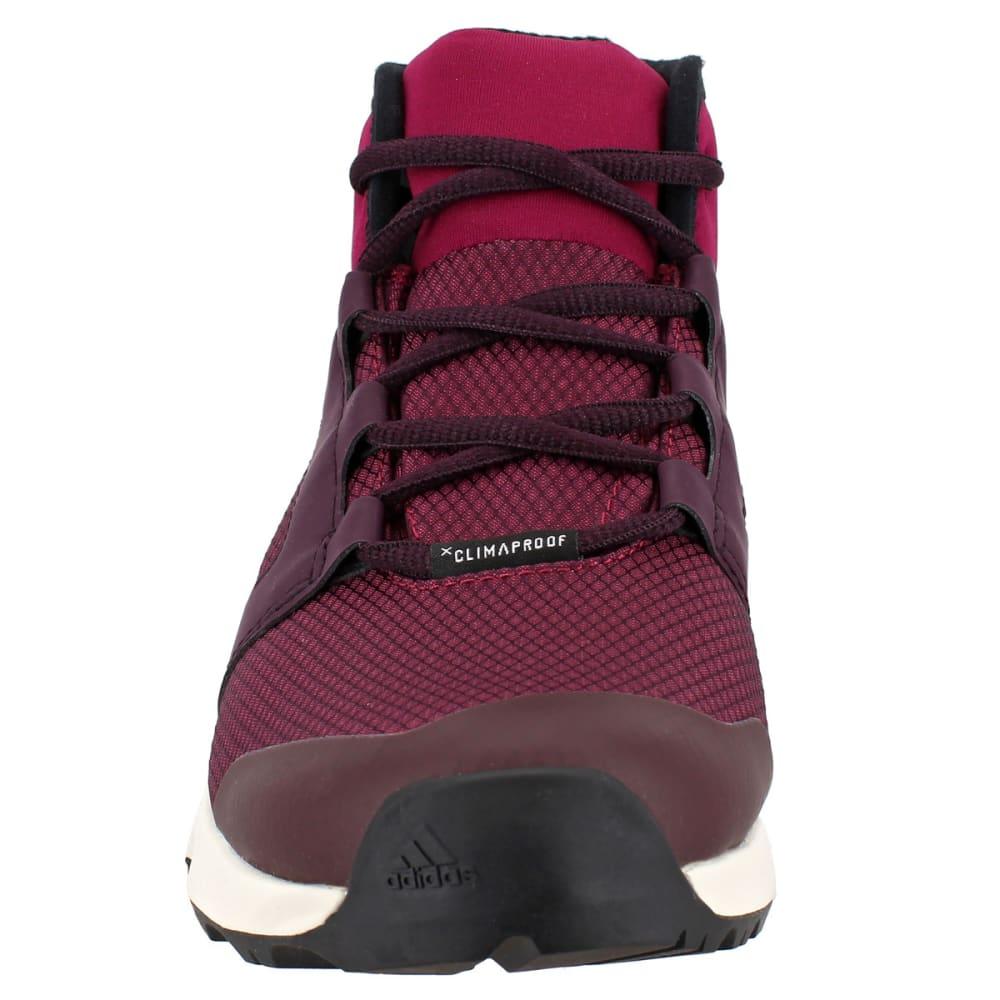 ADIDAS Women's Terrex Voyager CW CP Mid-Cut Hiking Shoes, Mystery Ruby/Dark Burgundy/Black - RUBY/BURGUNDY/BLACK