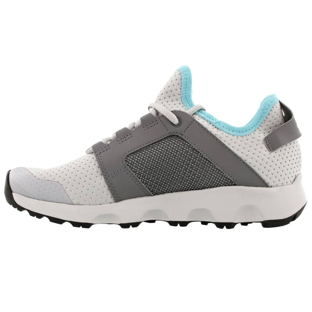 ADIDAS Women's Terrex Voyager DLX Hiking Shoes, Grey Two/Grey Four/Chalk White - GREY/GREY/WHITE