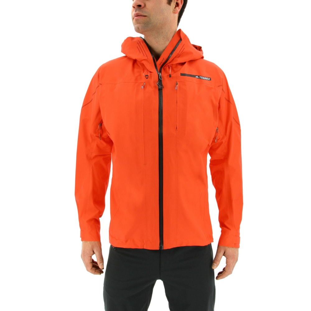ADIDAS Men's Terrex TechRock GTX Hooded Jacket - ENERGY