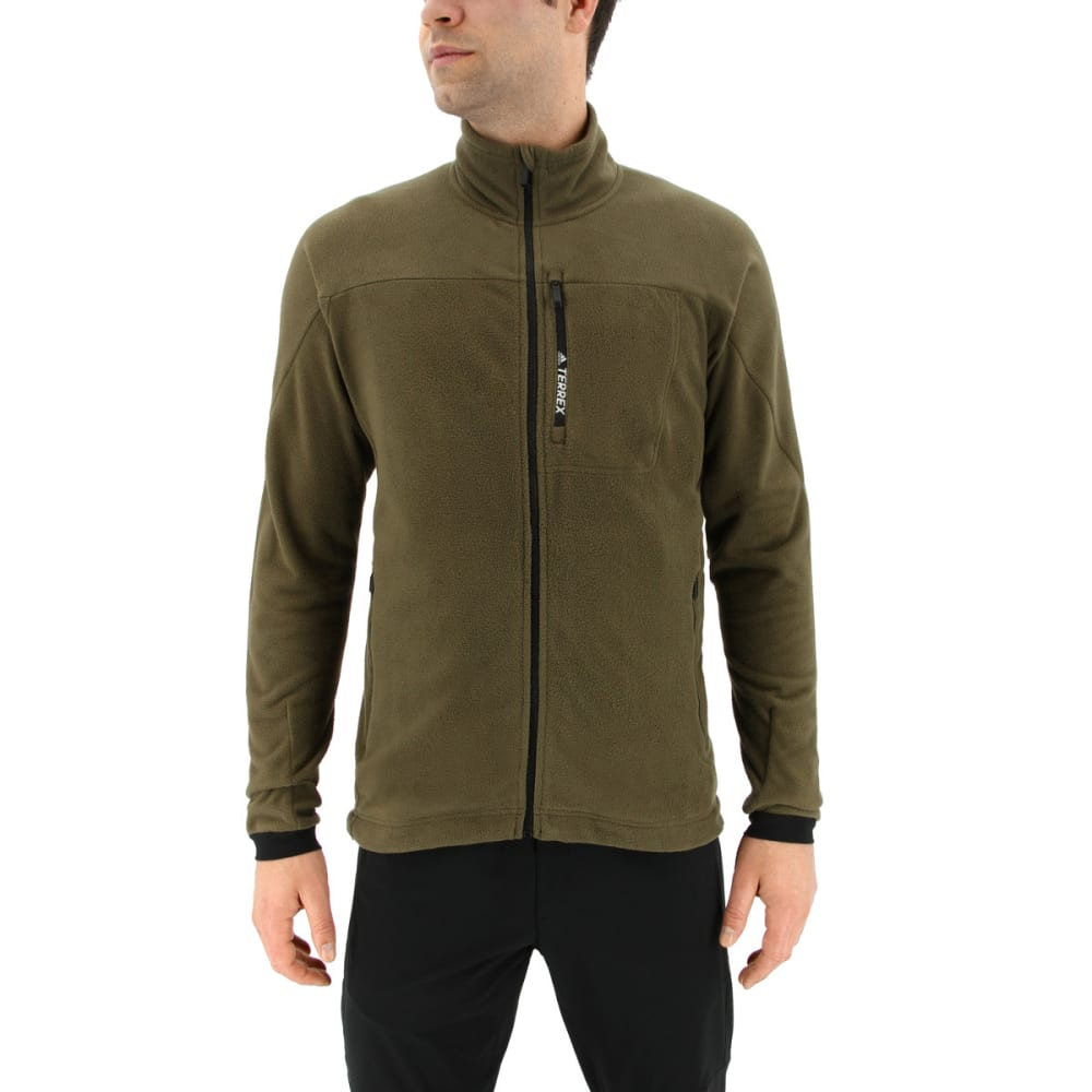 ADIDAS Men's Terrex Tivid Fleece Jacket - TRACE OLIVE
