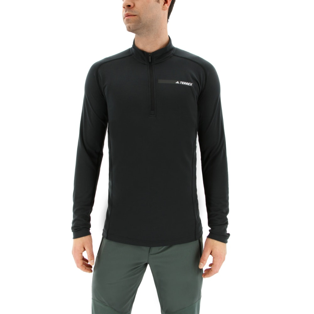 ADIDAS Men's Terrex Trace Rocker Half Zip Fleece Shirt - BLACK