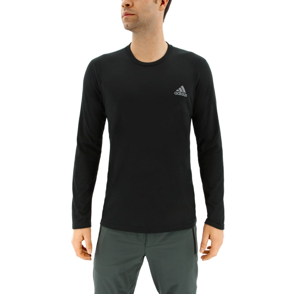 ADIDAS Men's Ultimate Long Sleeve T-Shirt - BLACK