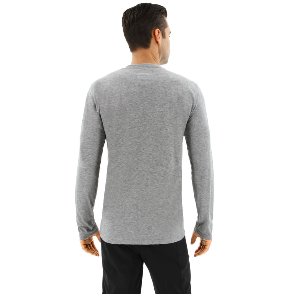 ADIDAS Men's Ultimate Long Sleeve T-Shirt - MEDIUM GREY HEATHER