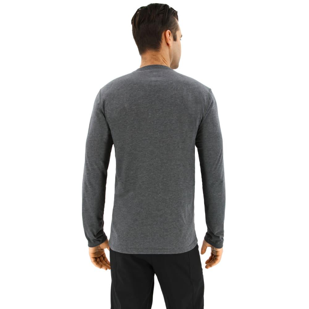 ADIDAS Men's Ultimate Long Sleeve T-Shirt - DARK GREY HEATHER