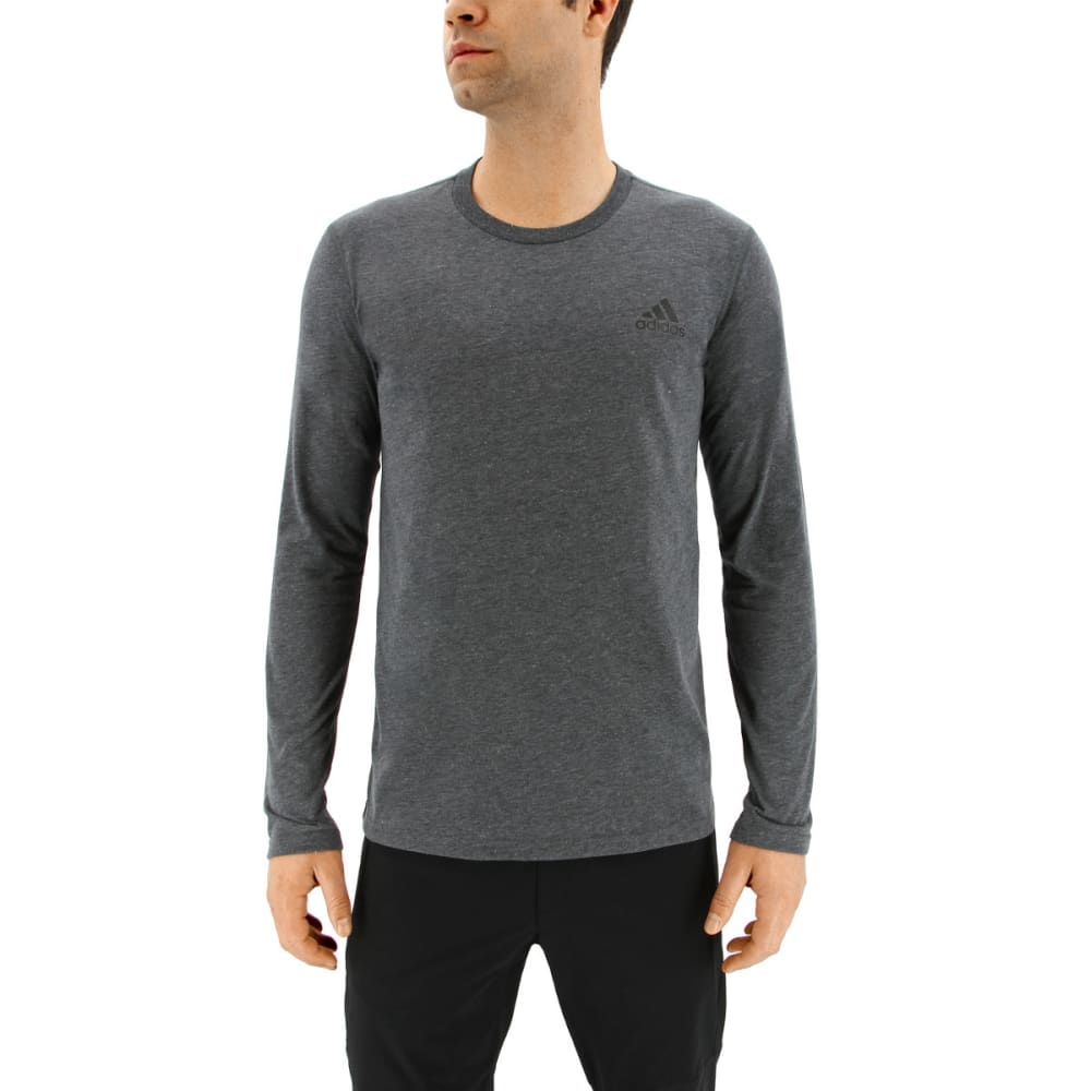 ADIDAS Men's Ultimate Long Sleeve T-Shirt - DARK GREY HEATHER