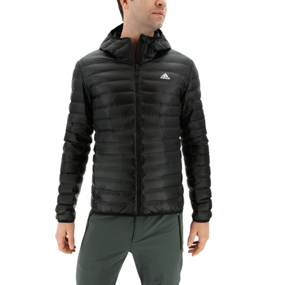 ADIDAS Men's Varilite Hooded Down Jacket - BLACK